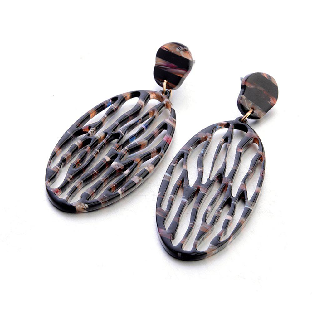 Shops Fashion New Acrylic Oval Hollow Thin Face Earrings Simple Personalized Accessories