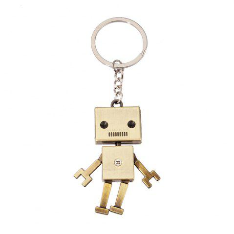 Affordable Creative Personality Retro Robot Model Metal Keychain Small Pendant
