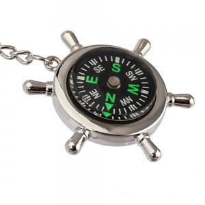 Creative Personality High Quality Compass Metal Key Chain -