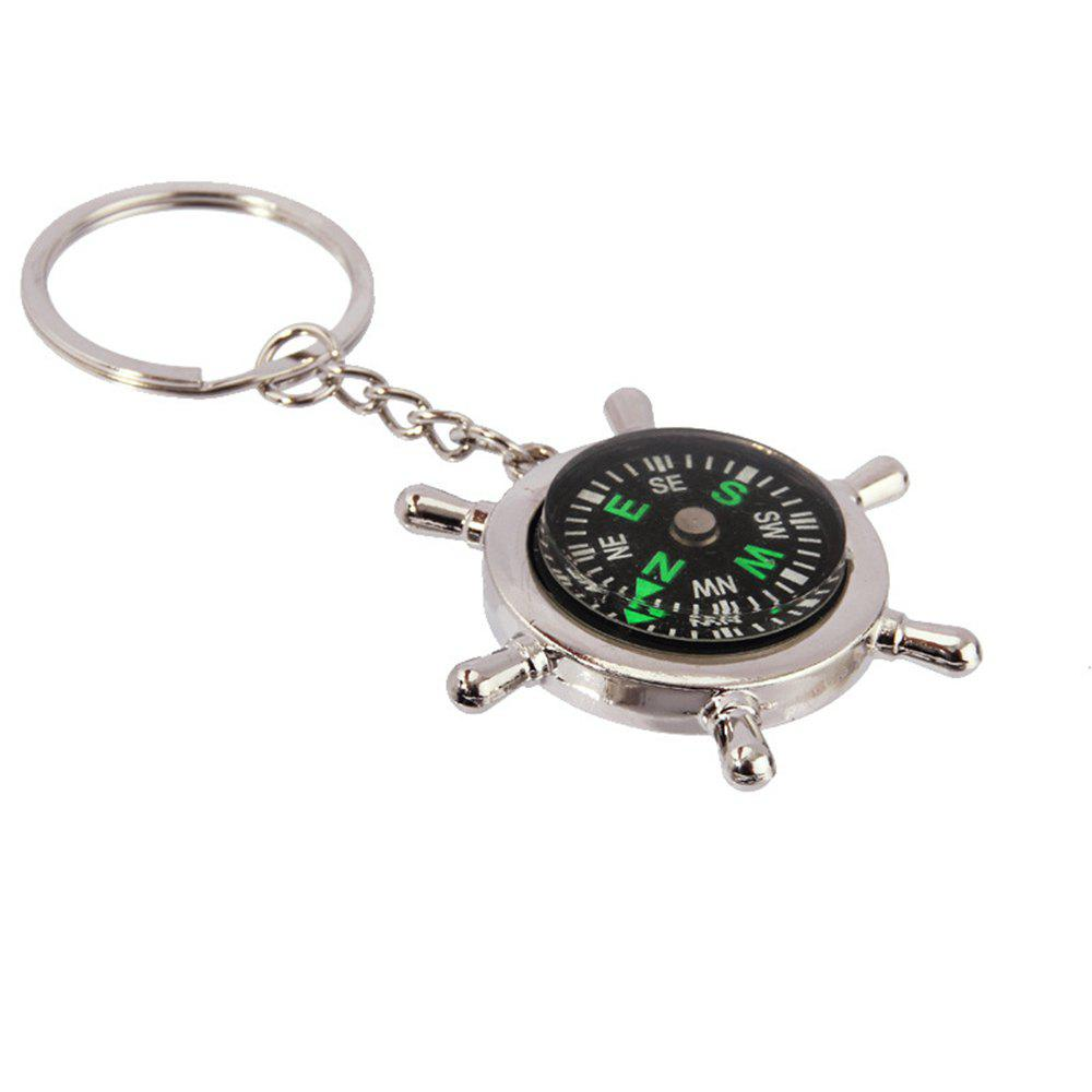 Fancy Creative Personality High Quality Compass Metal Key Chain
