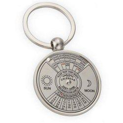 Creative Personality High Quality Metal Chinese English Compass Calendar Keychain -
