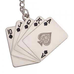 Hot High-quality Poker Personalized Fluffy Key Chain Carved -