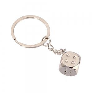 High-quality Personalized Dice Metal Keychain Creative Gift -
