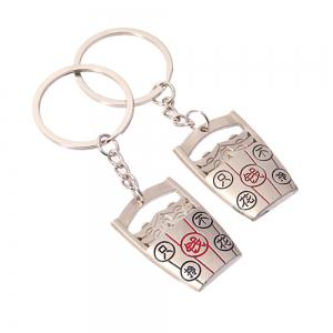 Hot-Selling High-quality Metal Bucket Keychain Trendy Fashion Gift Pendant 2PC -