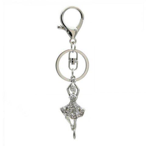Outfits Creative Ballet Girl Shape Decoration Rhinestone Key Chain