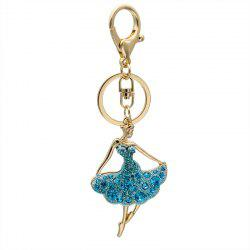 Creative Ballet Woman Shape Decoration Rhinestone Key Chain -