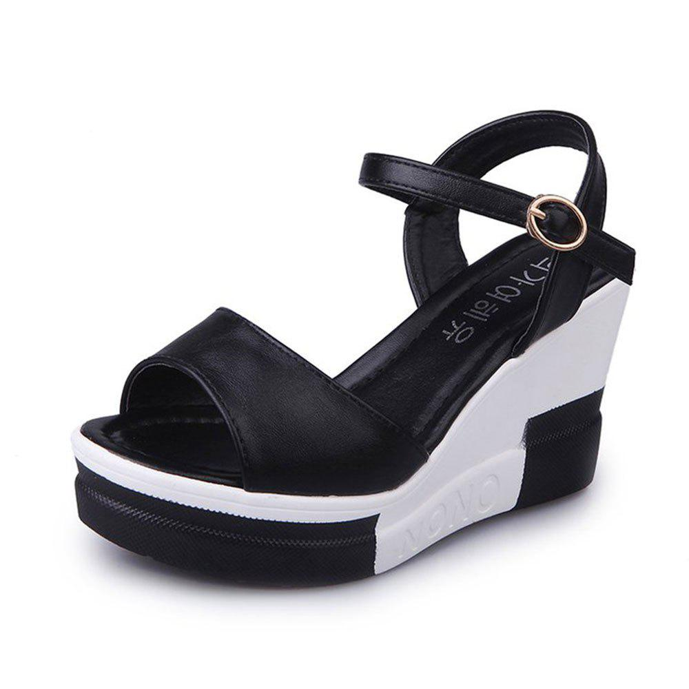 Fashion Summer New Muffin Platform Sandals