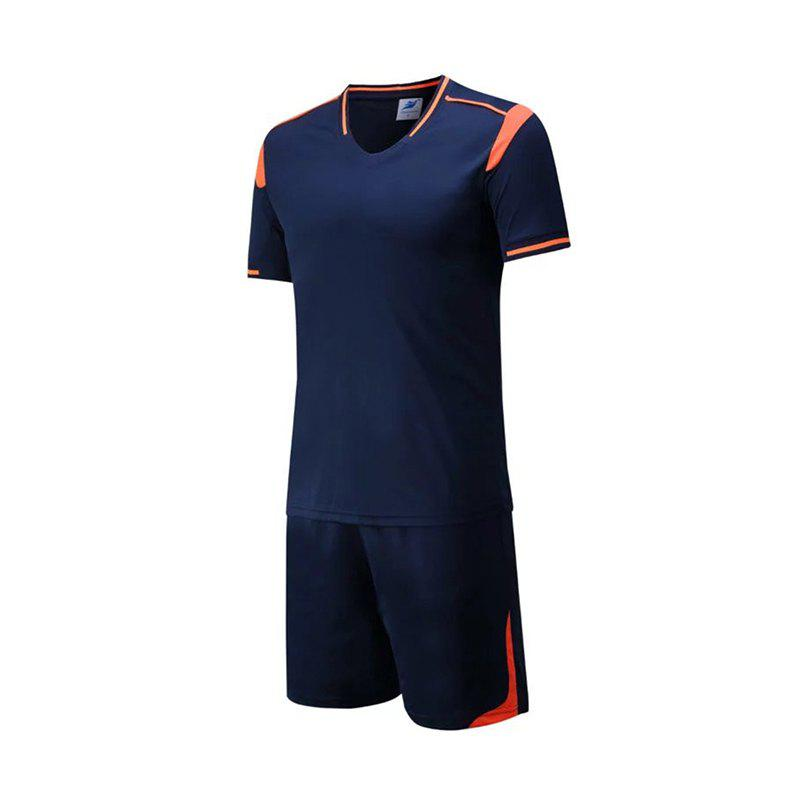 Trendy Men's Breathable Simple Style Sports Set