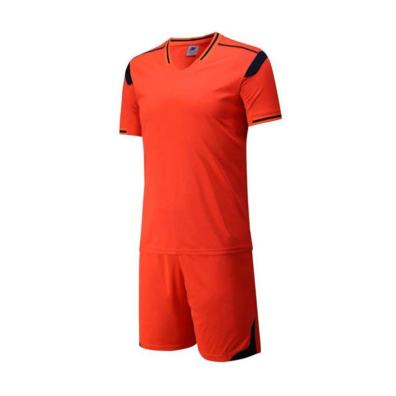 Online Men's Breathable Simple Style Sports Set