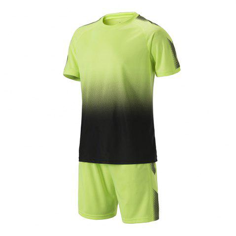 Fashion Men's Sports 2PCS Light Weight Loose Short Sleeve Football Set