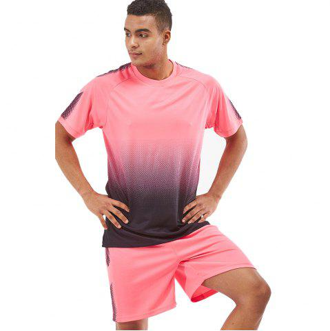 Chic Men's Sports 2PCS Light Weight Loose Short Sleeve Football Set