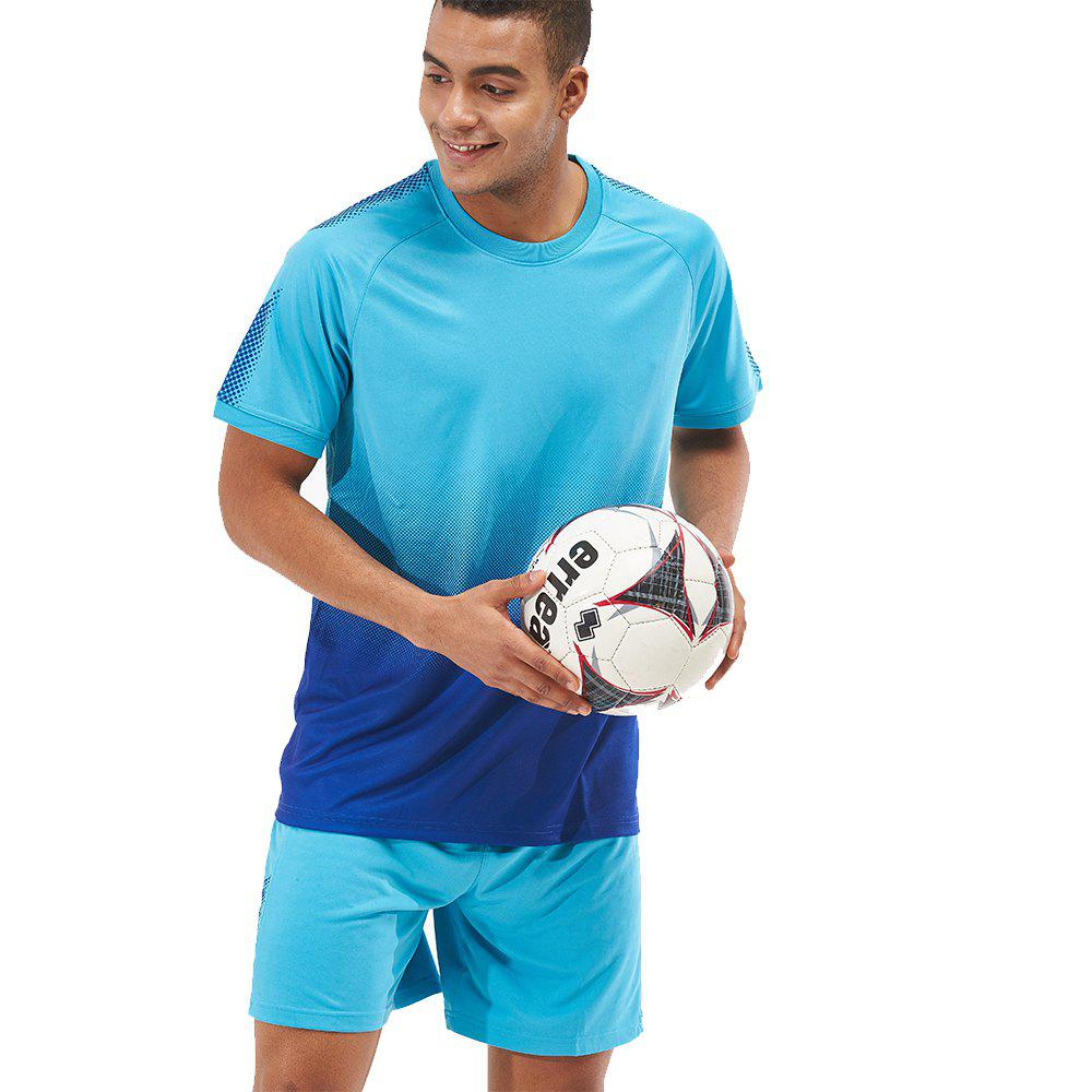 Buy Men's Sports 2PCS Light Weight Loose Short Sleeve Football Set