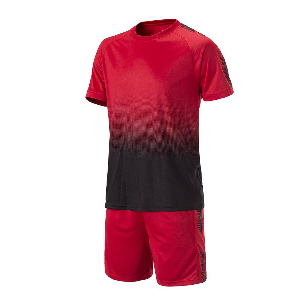 Discount Men's Sports 2PCS Light Weight Loose Short Sleeve Football Set