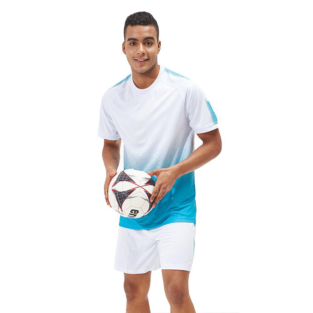 Shop Men's Sports 2PCS Light Weight Loose Short Sleeve Football Set