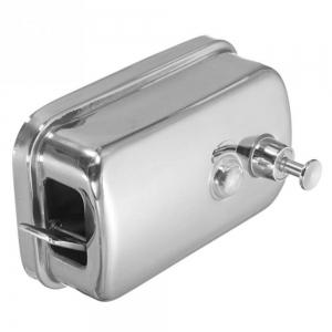 500ml Mounted Stainless Steel Manual Wall Mount Soap Dispenser for Bathroom Kitchen Hotel -