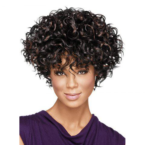 Sale New Fashon Women Short Curly Tousled Synthetic Hair Wigs with Bangs