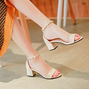 Coarse And Rivet Buckle Strap Anti-skid Sandal -