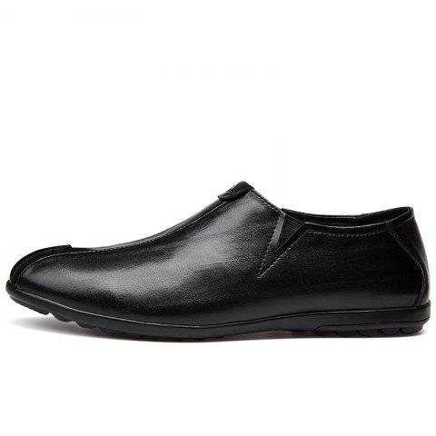 Best New Men'S Solid Color Classic Business Casual Shoes