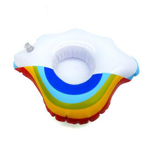 Hot Mini Rainbow Cloud Inflatable Cup Holder Swimming Drink Party Toy Supplies