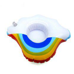 Mini Rainbow Cloud Inflatable Cup Holder Swimming Drink Party Toy Supplies -
