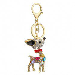 Креатив Sika Deer Shape Украшение Rhinestone Key Chain -