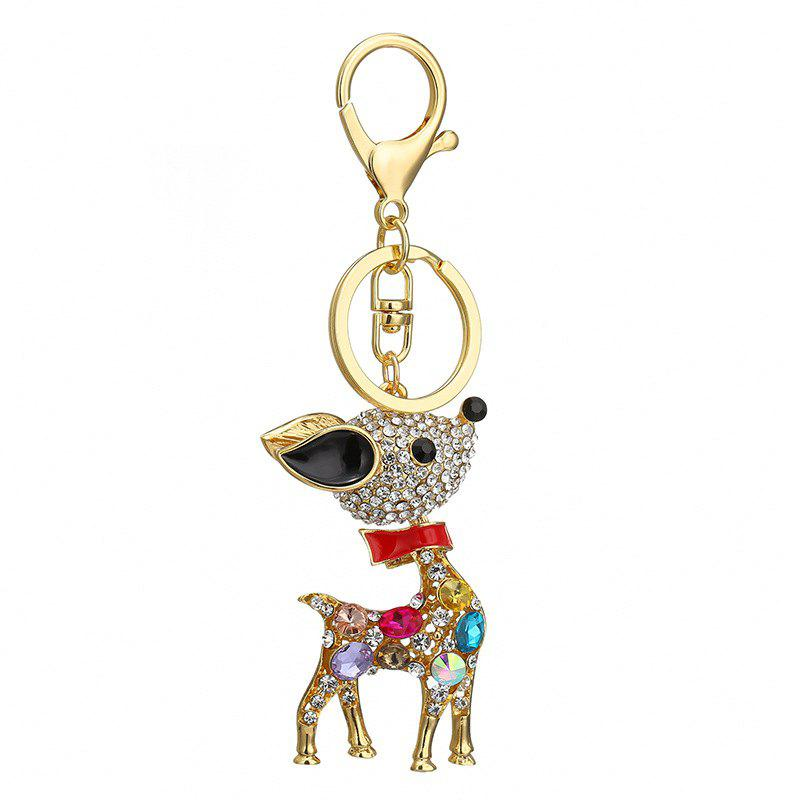 Креатив Sika Deer Shape Украшение Rhinestone Key Chain