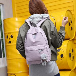 Small Fresh Fashion Simple Solid Color Wild Large-Capacity Student Female Travel Backpack Tide -