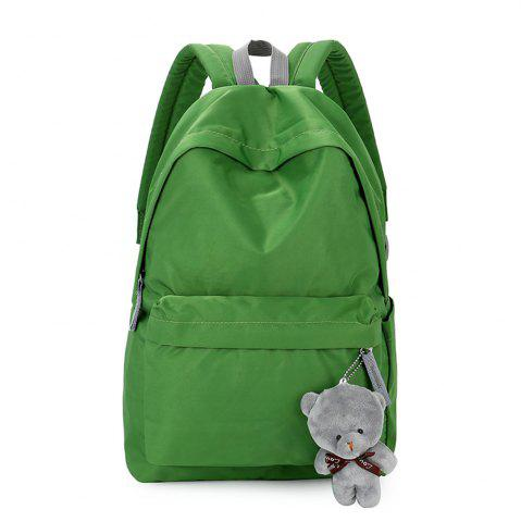 Outfits Small Fresh Fashion Simple Solid Color Wild Large-Capacity Student Female Travel Backpack Tide