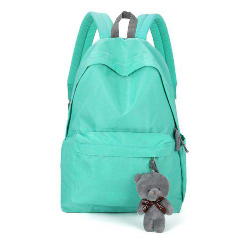 Fancy Small Fresh Fashion Simple Solid Color Wild Large-Capacity Student Female Travel Backpack Tide
