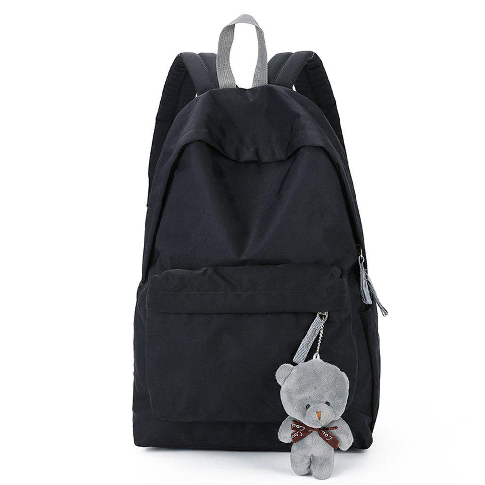 Chic Small Fresh Fashion Simple Solid Color Wild Large-Capacity Student Female Travel Backpack Tide