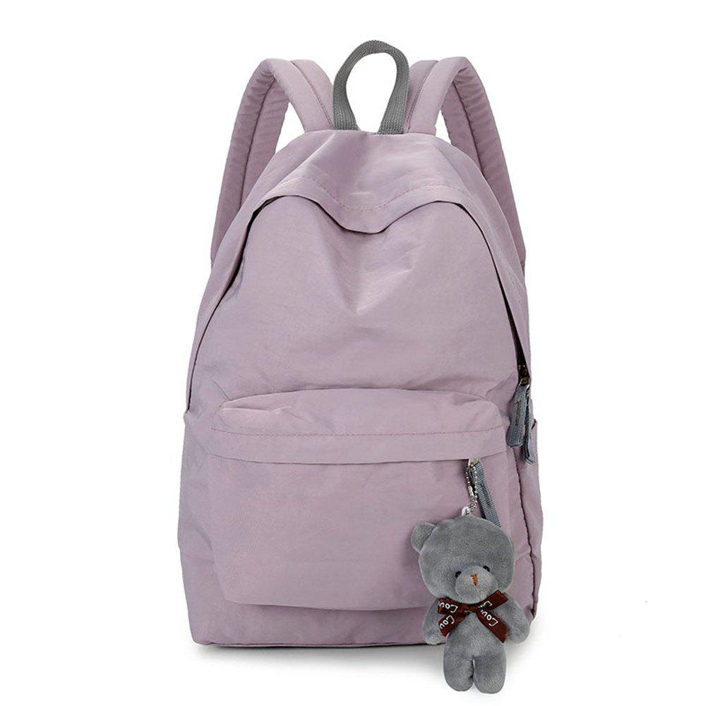 Trendy Small Fresh Fashion Simple Solid Color Wild Large-Capacity Student Female Travel Backpack Tide