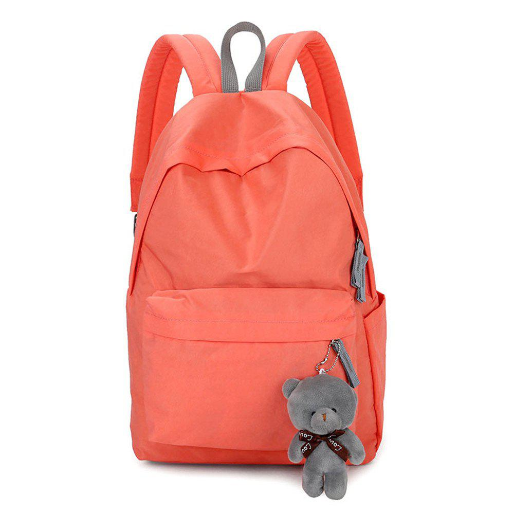 Store Small Fresh Fashion Simple Solid Color Wild Large-Capacity Student Female Travel Backpack Tide