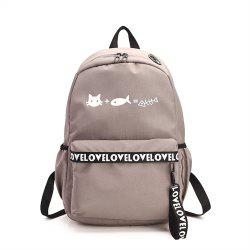 Canvas Large Capacity Small Fresh and Simple Simple Solid Color Female Backpack Tide -