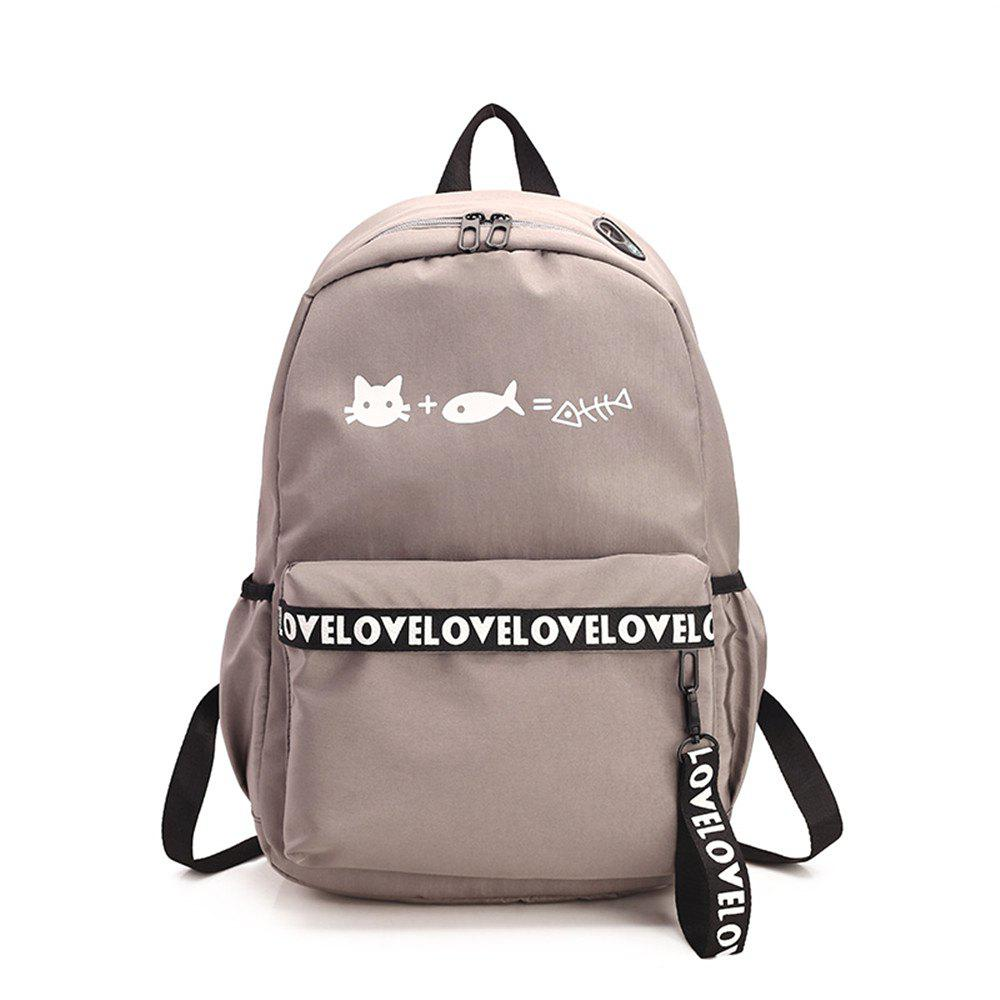 Sale Canvas Large Capacity Small Fresh and Simple Simple Solid Color Female Backpack Tide