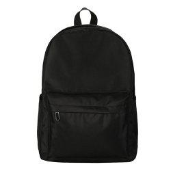 Fashion Wild Simple Canvas Large-Capacity Solid Color Men'S Backpack Tide -