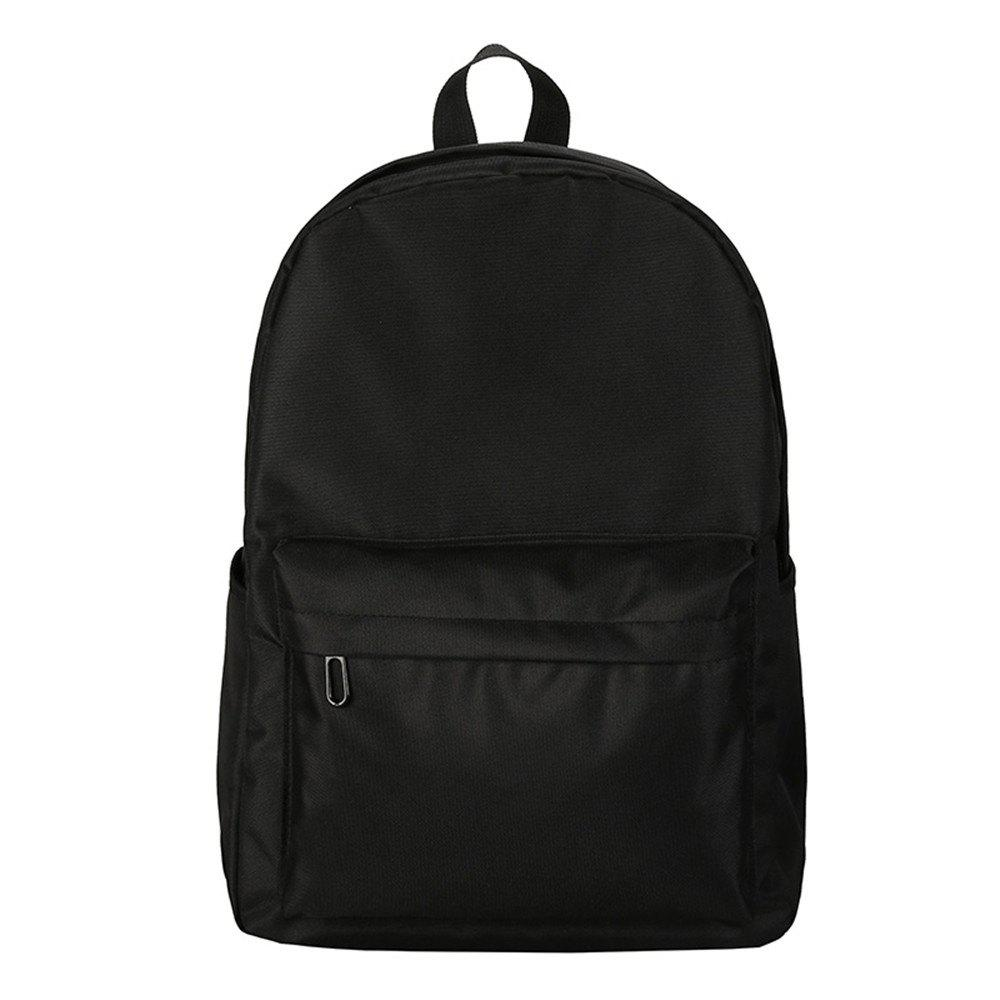 Online Fashion Wild Simple Canvas Large-Capacity Solid Color Men'S Backpack Tide