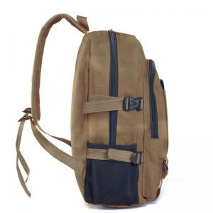 Couple Side Pocket Canvas Backpack -
