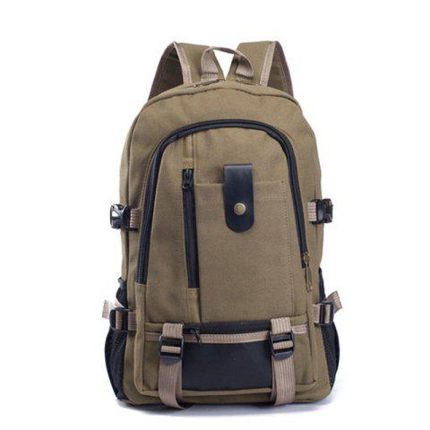 Outfit Couple Side Pocket Canvas Backpack