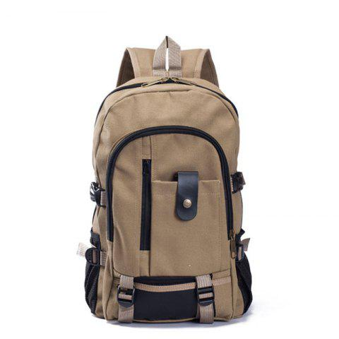 Store Couple Side Pocket Canvas Backpack