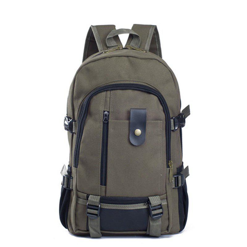 Outfits Couple Side Pocket Canvas Backpack