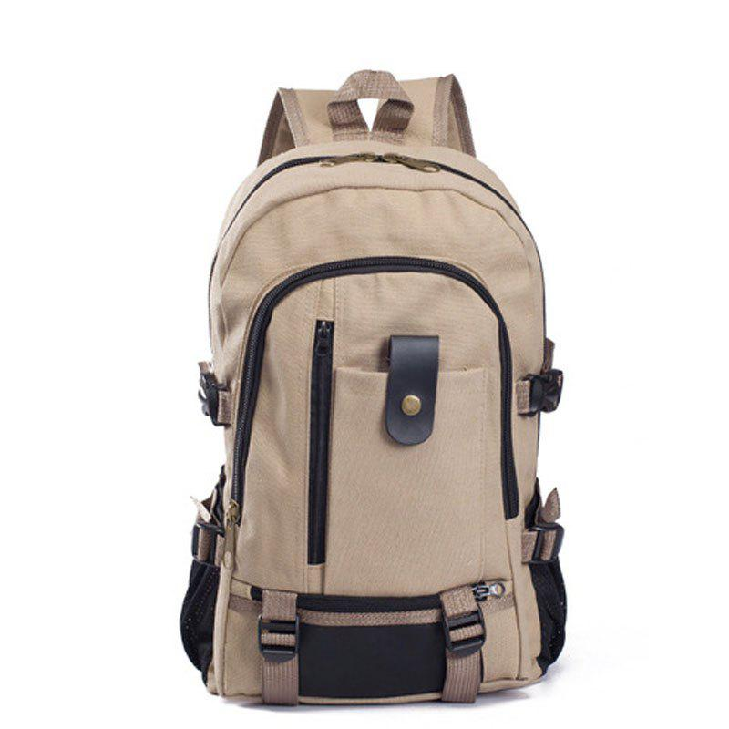 Cheap Couple Side Pocket Canvas Backpack