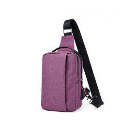USB Charging Shoulder Chest Bag Sports Canvas for Outdoor -