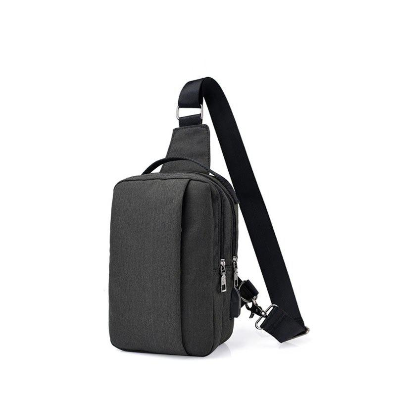 Latest USB Charging Shoulder Chest Bag Sports Canvas for Outdoor