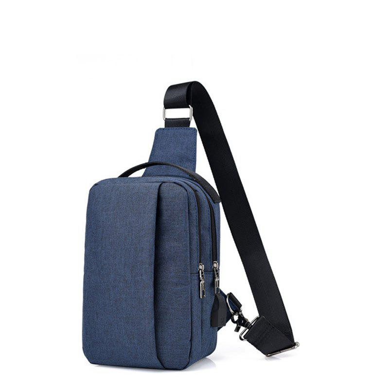 Fashion USB Charging Shoulder Chest Bag Sports Canvas for Outdoor