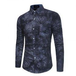 2018 New Spring-summer Men's Casual Dyeing Long Sleeve Shirt -