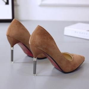 Summer New Pointed Fine with Air Quality High Heels -
