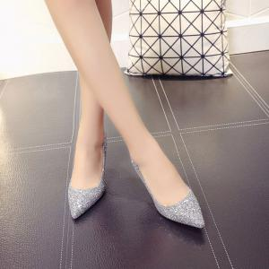 Spring and Summer New Pointed Classic Sequins High Heels -