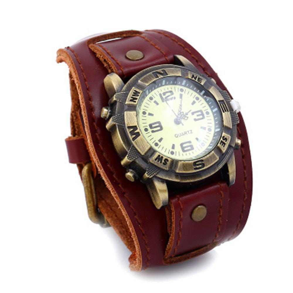 Fashion Luxury Cow Leather Bracelet Casual Sports Quartz Watch