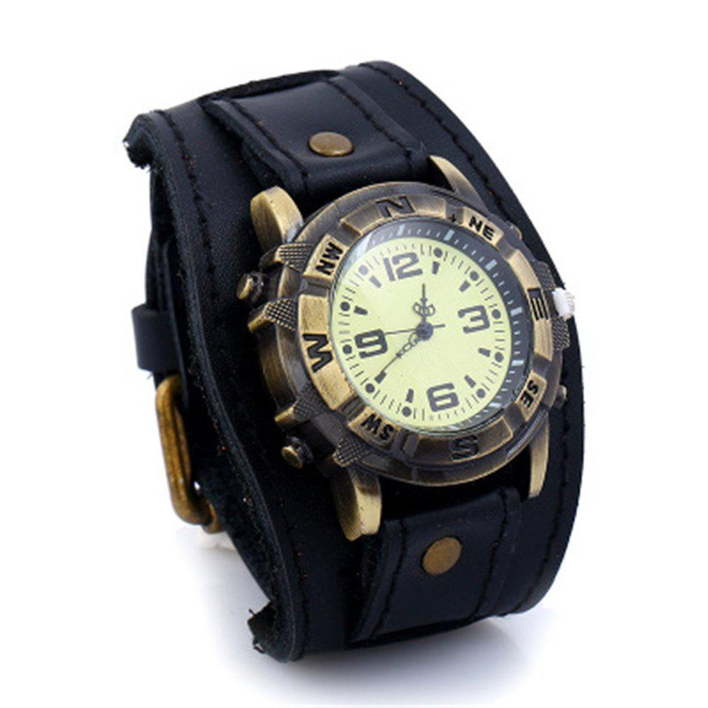 Buy Luxury Cow Leather Bracelet Casual Sports Quartz Watch