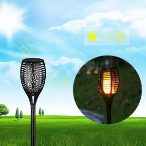 YWXLight Solar Lights Flames LED Waterproof Wireless Flickering Torches Lantern Outdoor for Garden Lawn -